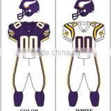 Custom American Football Uniforms With Tackle Twill Embroidered Logos/ High Quality Custom Made American Football Uniforms