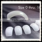 white clear glass color 100pcs 500pcs bag pvc box packing ABS salon french eagle nail tip