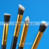 4Pcs Professional Eye brushes set eyeshadow Foundation Mascara Blending Pencil brush Makeup tool Cosmetic Black