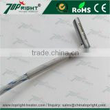 High density 12v Crimped lead right angle heating cartridge with ground wire