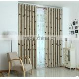 New Fresh luxury pink printed polyester blackout window curtain treatment and blackout fabric