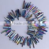 Charming Mystic Titanium Crystal Quartz Point Beads Pendant Wolesale