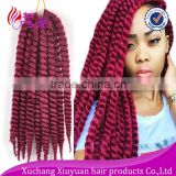 Wholesale kinky twist synthetic afro twist braid for hair extension, havana mambo twist hair