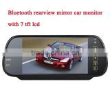 7 inch Monitor Car Bluetooth Handsfree Rearview Mirror car kit