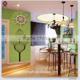 Decorative Tree Design Eco-Friendly PVC Waterproof Dining Room Art Decor Removable Wall Stickers