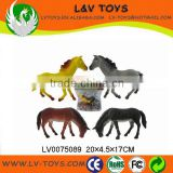 Cheap plastic toy horses, race horse toys for kids 4 in 1