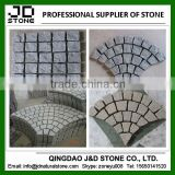 shaped granite paving stone/ interlocking cubes/ cobblestone paver mats