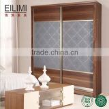 Pre-assemble home furniture MDF panel wardrobe cabinet bedroom designs