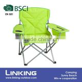 fluorescent green camping tea cup chair with cooler bag