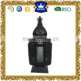 Unique design decorative black moroccan metal candle lantern