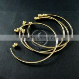 2mm thick wire one end open brass 14K light gold plated wiring bangle bracelet cuff DIY supplies 1900090