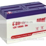 Advanced Direct Casting technical Deep cycle Silicone gel battery 12V100AH/3Hr for golf carts and electric bus