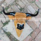 Furry Animal Taxidermy wall bull head
