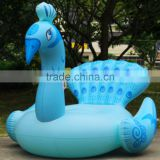 190cm Inflatable Peacock Giant Pool Float Blue Red Premium Quality Adult size Inflatable Water Sport