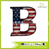 Wholesale Decorative Metal Lighted LED Wall Art Letter B
