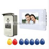 Cheap 7inch HD Video Camera Visual Doorbell, Card Open Lock Night Visual Wired Doorbell, Best Home Security System Doorbell
