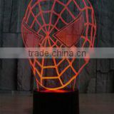 Indoor spider man shape 3D vision desktop led night light