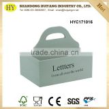 Wholesale letter storage holder small wooden boxes with handle