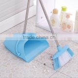 candy colour demountable plastic broom dustpan cleaning sets/long handle windproof dustpan
