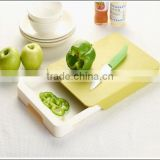 Multi-function Chopping Board With Tray /Plastic Drawer Cutting Board