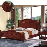 American Leisure style Furniture Walnut painting High end Rubber solid Wood Furniture bed