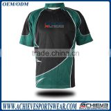 OEM rugby jersey 100% Polyester Cheap Rugby Shirt Sublimated Rugby Uniform
