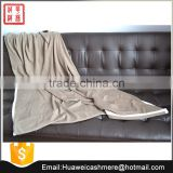 Cable knitted cashmere wool blanket