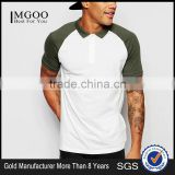 MGOO Cheap Price Raglan Short Sleeves Polo Off White Jersey Polo 100 Cotton Baseball T shirt