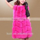 Hot Sale Fashion Girl Natural Ladies Real Fur Gilet / Genuine Fox Fur Vest --pc271