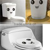 2016 New Funny Stylish Smiling Face Bathroom DIY Decal Vinyl Toilet Sticker Art Wall Paper Decor Cute Stickers