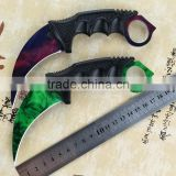 Gamma Karambit 2,Hunting Karambit Knife,Outdoor Camping CSGO Knife