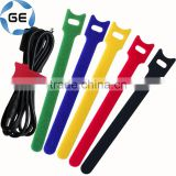 Adjustable Hook and Loop Strap Colorful Back to Back Customizable Self-gripping Double Side Hook and Loop Cable Tie Fastener