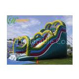 Plato Amusement Park Huge Inflatable Bouncy Slide For Child Lead Free