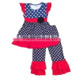 baby clothes 2017 dot print national outfits baby clothing wholesale kids trendy clothing