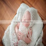 Mohair romper and bonnet sets Newborn knit hooded romper Lace mohair hat photography props Baby girl outfit Onesie