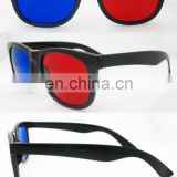 Red/blue lens plastic 3D glasses(3D004)