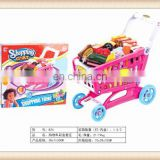New product kids plastic supermarket shopping trolley toy shopping cart toy