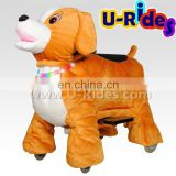 Creative walking dog toys animal with coin operated &CE certification