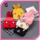 Trendy fashion hot baby caps soft beanie cute cartoon rabbit baby caps