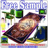 Turkish quran learning machine Ottoman Sajadah Thin Prayer Rug Muslim Gift Eid Ramadan Namaz Carpet - Green