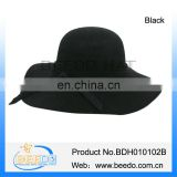 Ladies crushable black winter bowler derby hats