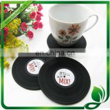 Vinyl record coaster, silicone record cup pad, Vinyl-Style cup pad