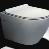 Wall mounted bathroom back to wall white high quality water closed nice rimless cistern hidden concealed toilet