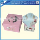 Cheap disposable packing paper food box with printing