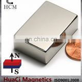 "sintered ndfeb magnet/china neodymium magnet Block N45 3/2""x1""x1/2"" industrial magnet sale"
