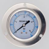 60mm Axial Back Connection  All stainless steel dual scale oil filled anti-shock pointer pressure gauge with edge