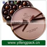 Eco-friendly Custom Made Rigid Chocolate Packaging Round Box Fashional Round Paper Gift boxes