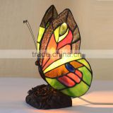 Tiffany Style Butterfly Lamp Table Light Decor Stained Glass Night Light