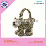 OEM fashionale plush leopard animal skin hand bag for kid                                                                         Quality Choice