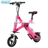 ET. China new product 20KG mini folding electric bicycle/2016 new pocket bike 48V500W motor LED lights electric bicycle motor